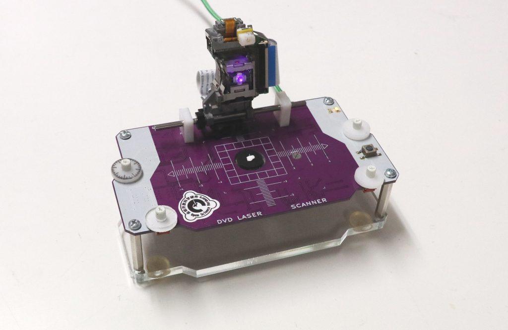 Лазерный сканирующий микроскоп из частей DVD и Arduino