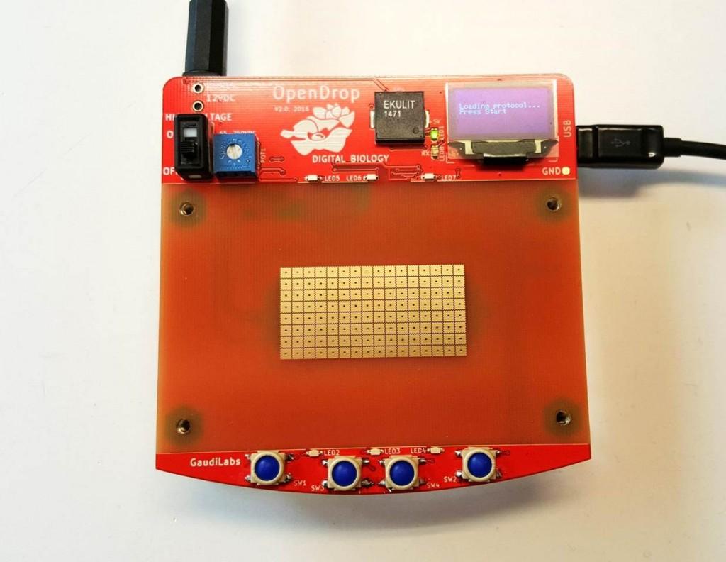 OpenDrop Digital Microfluidics Plattform